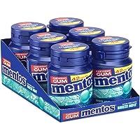 Mentos Gum Breeze Mint, menthol-eucalyptus smaak, suikervrije kauwgom, verpakking van 6 potjes met 42 kauwgoms, voor een…
