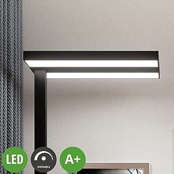 Lampenwelt Led Stehlampe Logan Dimmbar Modern In Schwarz Aus