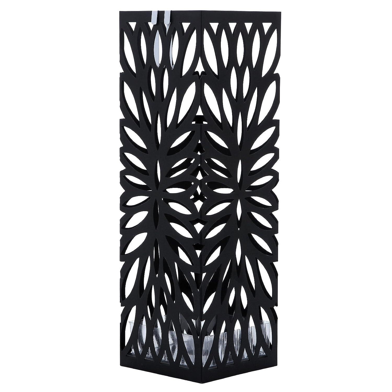 SONGMICS 15,5 x 49 x 15,5 cm Noir Porte parapluies en Métal carré ...