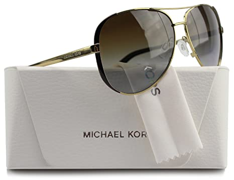 9bff16f16a Image Unavailable. Image not available for. Color  Michael Kors MK5004  Chelsea Aviator Polarized Sunglasses Gold w Brown ...