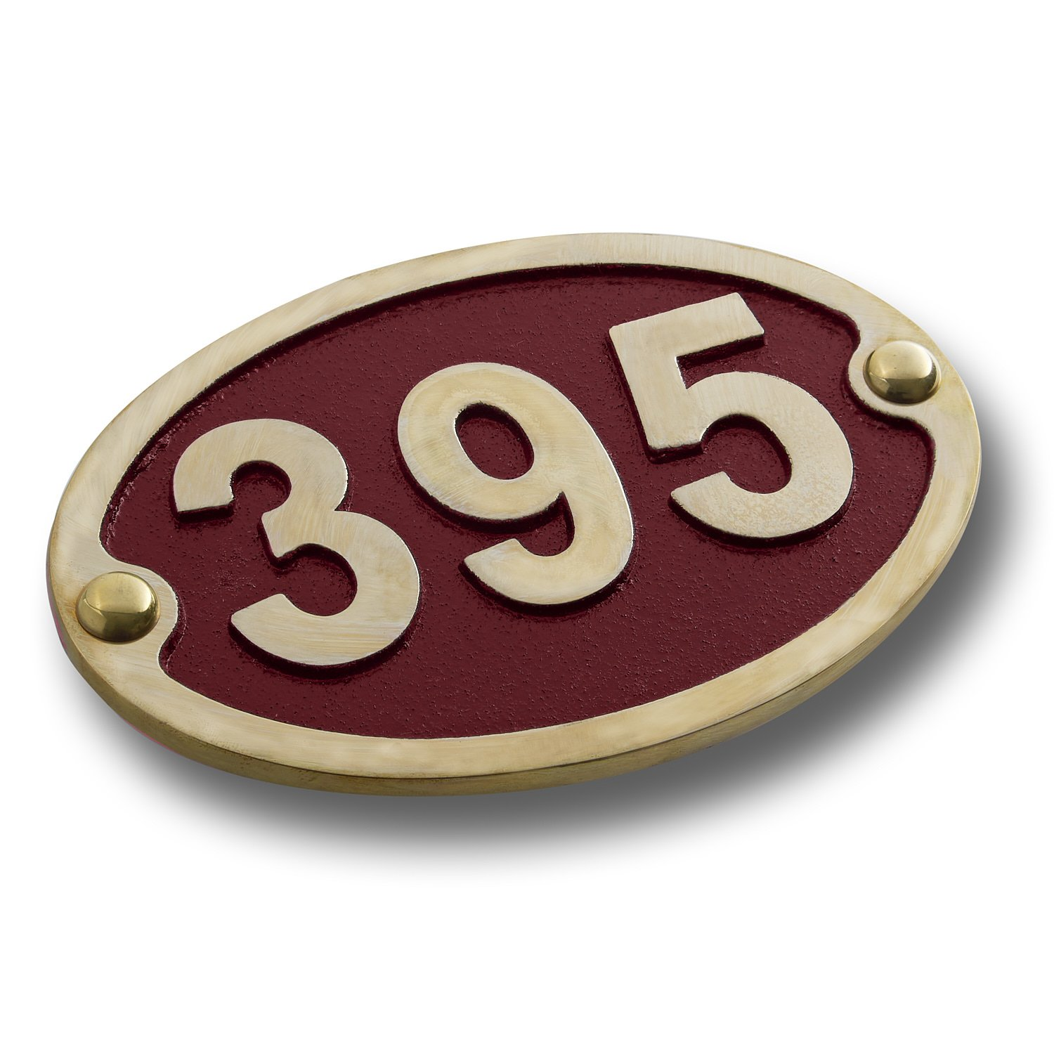 House Number Address Plaque Traditional Oval Style. Cast Metal Personalised Yard Or Mailbox Sign With Oodles Of Color, Number And Letter Options. Handmade In England By The Metal Foundry Just For You