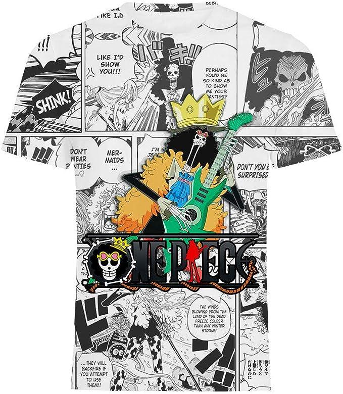 GOYING Camiseta Unisex de Manga Corta One Piece Brook Contenido: impresión 3D, Otaku, Juegos de rol, cómics, Dibujos Animados: Amazon.es: Ropa y accesorios
