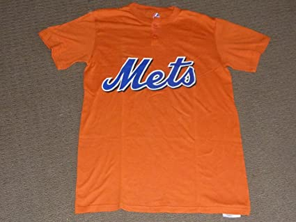 4aea556f Image Unavailable. Image not available for. Color: NEW YORK NY METS BASEBALL  ORANGE JERSEY SHIRT MAJESTIC BRAND NEW ADULT MEDIUM