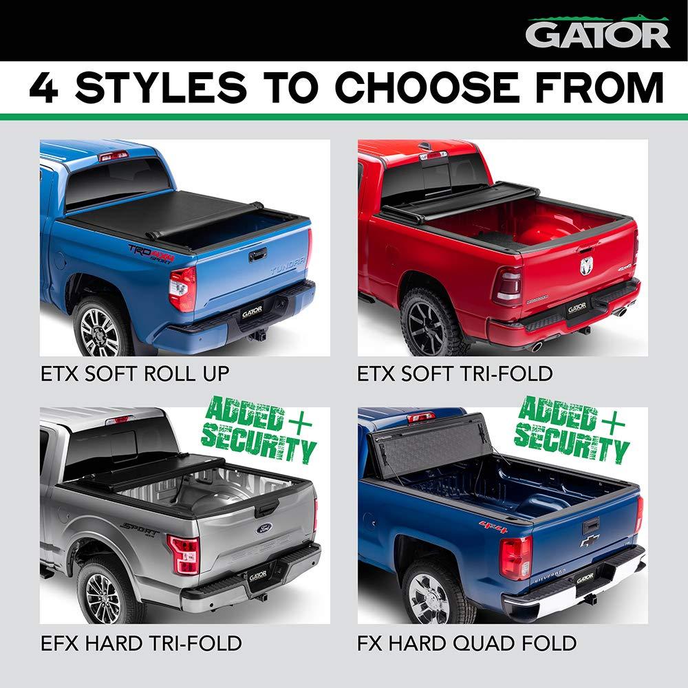 GC14020 Gator Covers Gator EFX Hard Folding Truck Tonneau Cover Fits 19-19 Chevy Silverado//GMC Sierra 5 8 Bed
