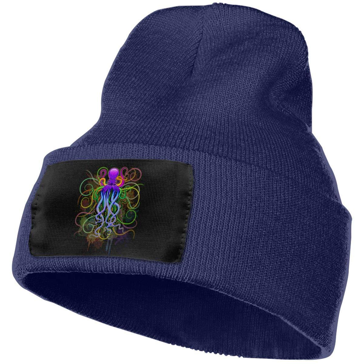 SLADDD1 Octopus Psychedelic Luminescence Warm Winter Hat Knit ...