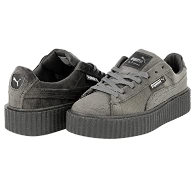 PUMA x Fenty By Rihanna Women Creeper Velvet Trainers Shoes 364466-03  (Glacier Grey) UK7.5 100% Genuine Guaranteed  Amazon.co.uk  Shoes   Bags efae49fd5