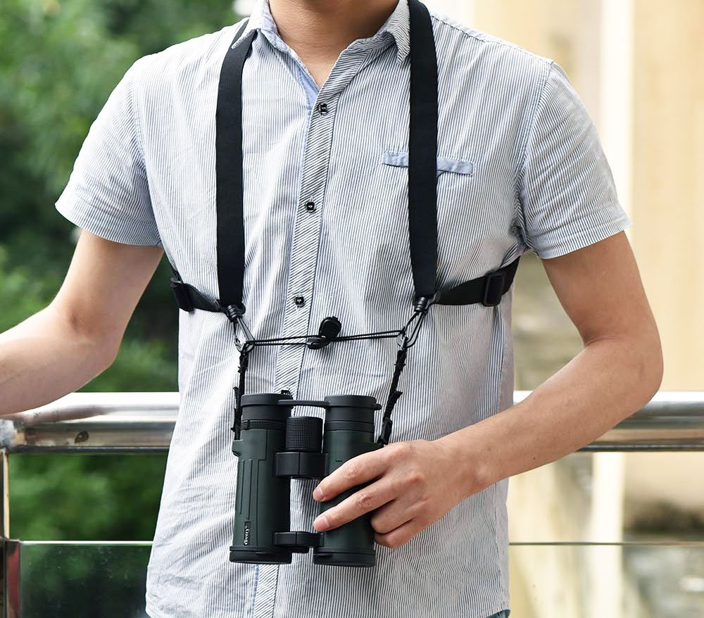 Ueasy X-type Binocular Shoulder Strap Binocular Harness Strap One Size Fits All Bino Sling Strp Quick Release Easy to Attach and Detach (Type 2)