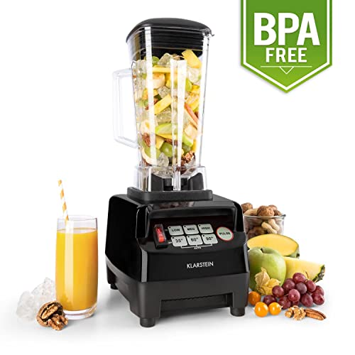 Klarstein Herakles 5G Professional Power Blender • Multifunctional • All-In One Stand-Mixer • Retro Design • Ideal as Food Processor • Smoothie Maker • Ice Crusher • Soup Maker • Grinder • Touch Panel • 1500W • 2L bpa Free Jug • Stainless Steel Blades • 40000 RMP • Black
