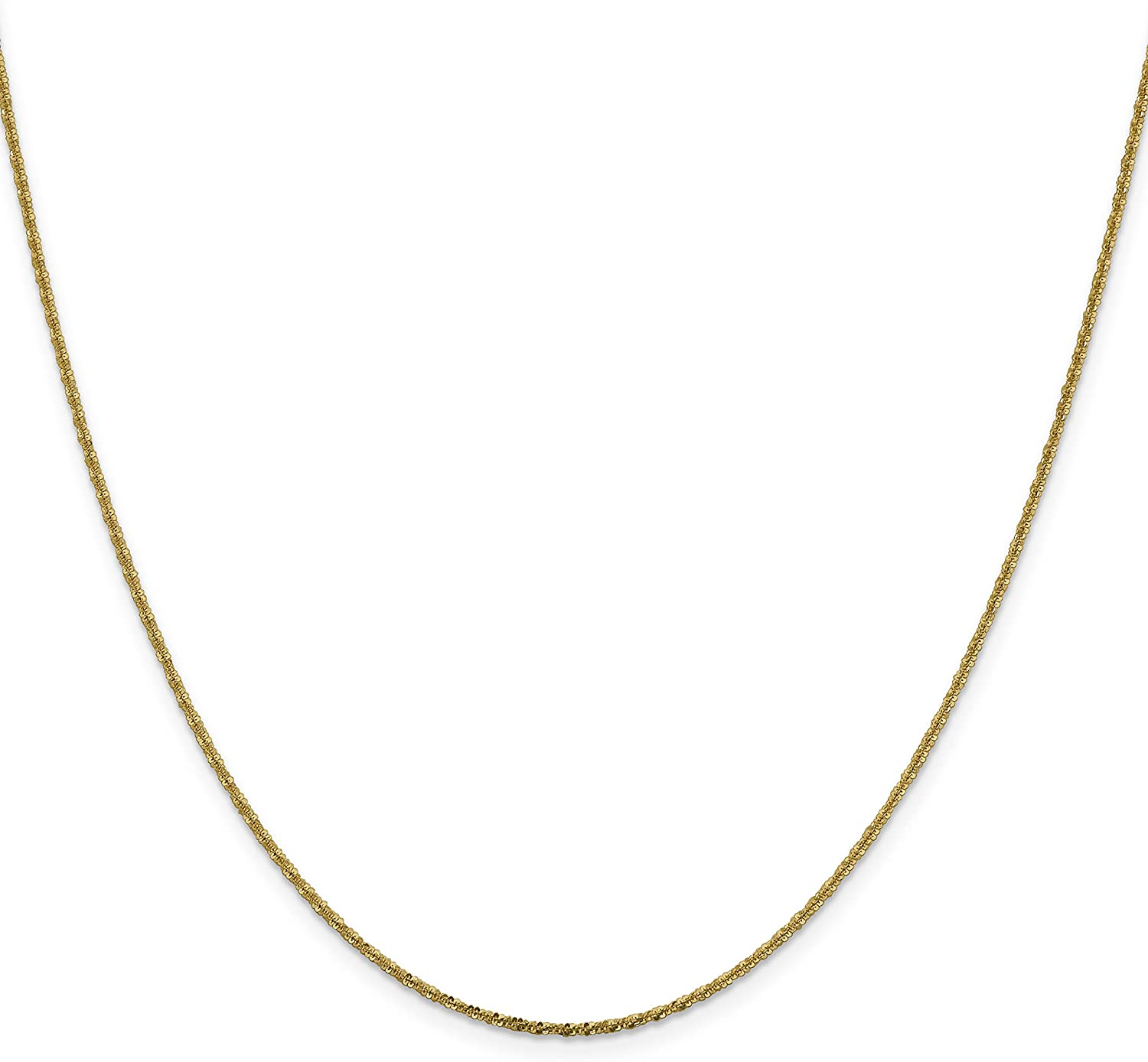 14k Yellow Gold 18in 1.50mm Cyclone Necklace Chain