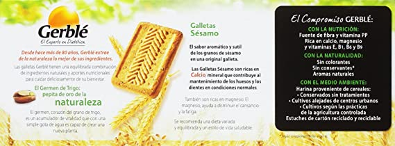 Gerblé Galletas Sésamo Galletas de Cereales - 230 g: Amazon.es: Amazon Pantry