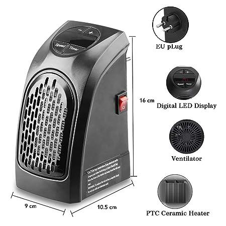 chensenlin Mini Estufa 350W Calentador eléctrico Calentador portátil Estufa Calentador práctico Termostato con Enchufe Europeo: Amazon.es: Electrónica