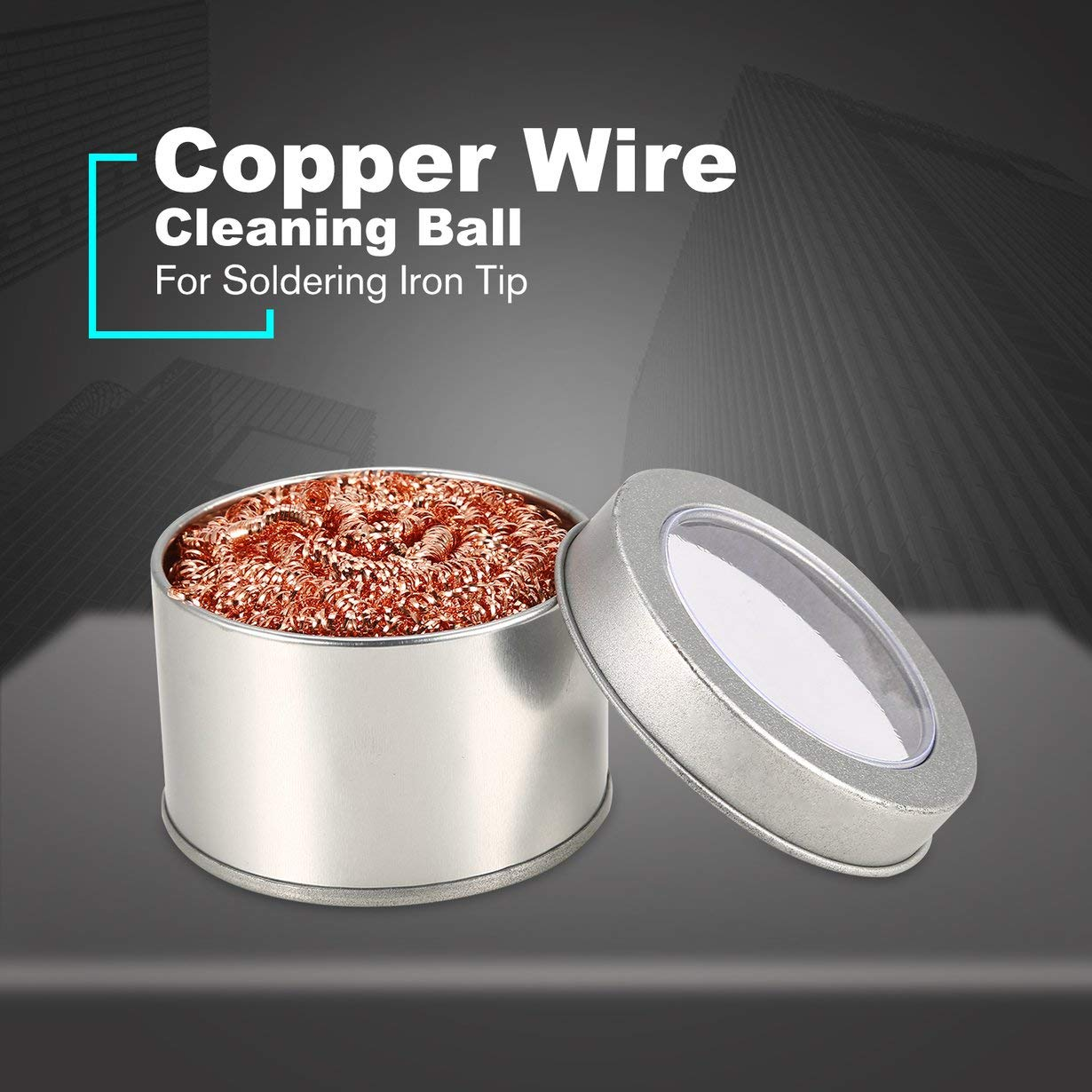 Soldering Iron Tip Filter Cleaning Ball Copper Steel Wire Sponge Clean Ball Silver