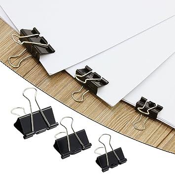 Entwurf und Office organisieren 25mm 32mm 41mm KEESIN Mehrzweck Aufklappen Metall B/üroklammern Clips f/ür Papier Dokumente