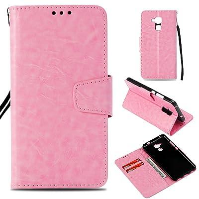 BONROY Coque Huawei Honor 5C, Coque Honor 5C, [Séries Haut de gamme] Étui en cuir de première qualité avec Coverture Toute-Puissante pour Huawei Honor 5C - Rose