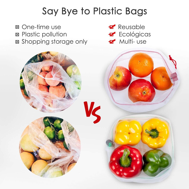 Amazon.com: YIHONG - Bolsas reutilizables para productos ...