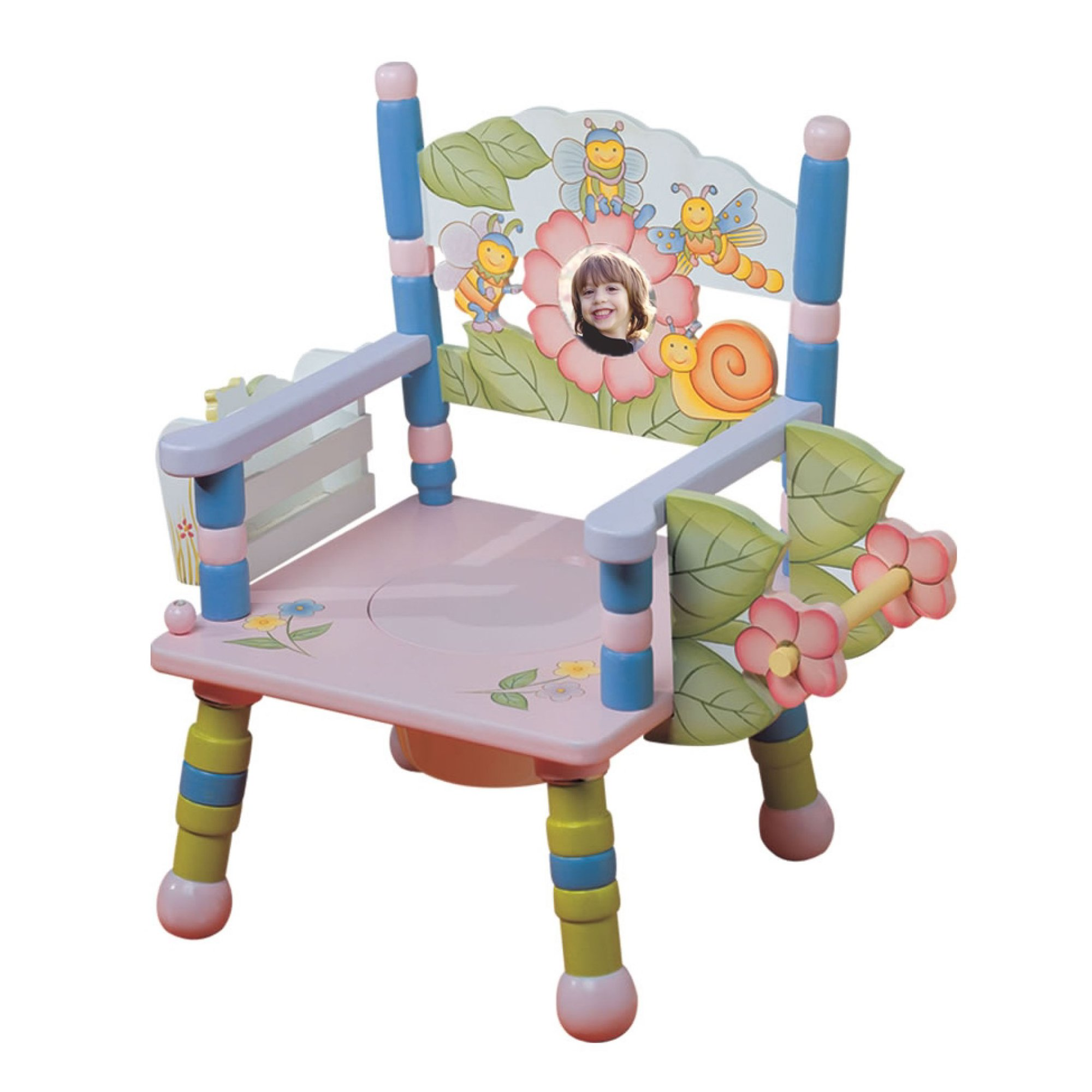 Teamson Kids - Musical Potty Chair with Book Holder and Toilet Paper Holder