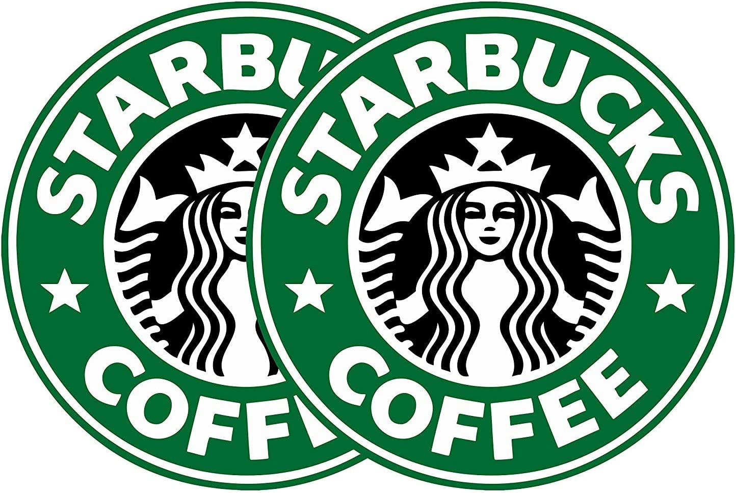 Delzam 3 2 Pack Starbucks Coffee Logo Vinyl Decal Sticker car Laptop Phone case Bumper etc
