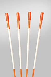 """Snow Stakes, Driveway Marker, Plow Stakes, 5/16"""" Thick X 48"""" Orange Fiberglass Stakes , 25 Pack"""