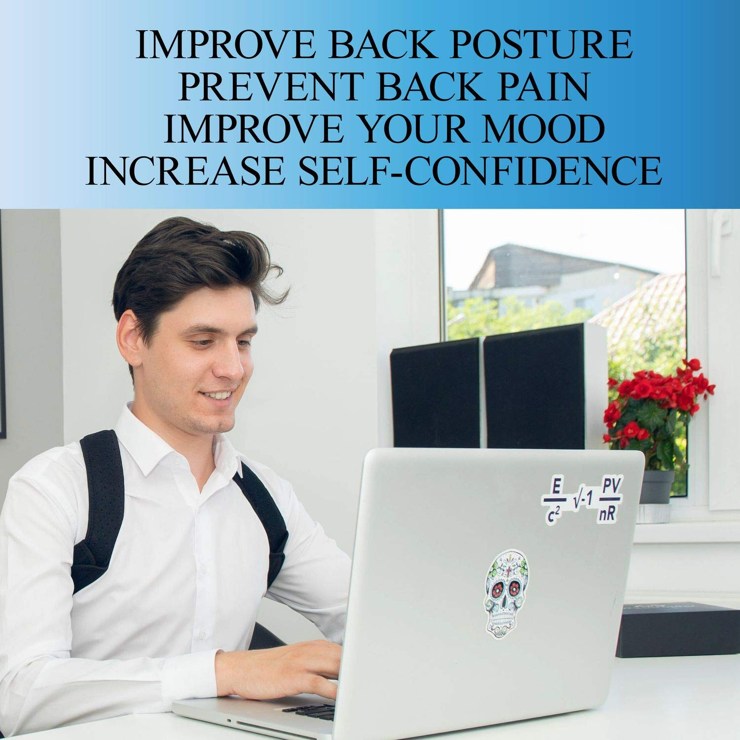 Back Posture Corrector for Women and Men-Breathable and Comfortable Clavicle Brace for Improving Posture-Adjustable and Discreet Clavicle Support Brace for Slouching & Hunching by Roxattract (Image #8)