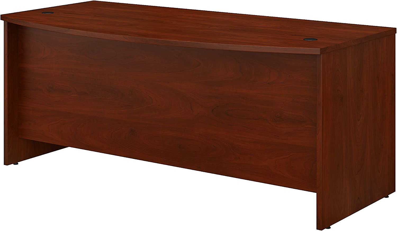 Bush Business Furniture Studio C Bow Front Desk, 72W x 36D, Hansen Cherry