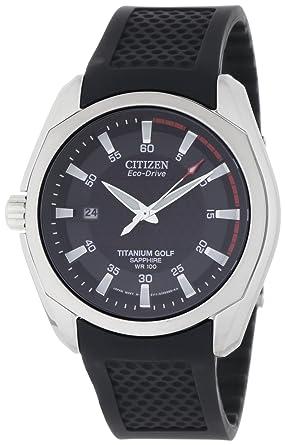 citizen men s bm7120 01e titanium golf eco drive watch amazon co citizen men s bm7120 01e titanium golf eco drive watch