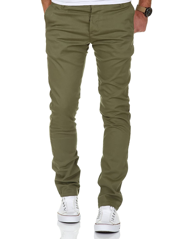 Amaci& Sons Herren Slim Fit Stretch Chino Hose Jeans 7100