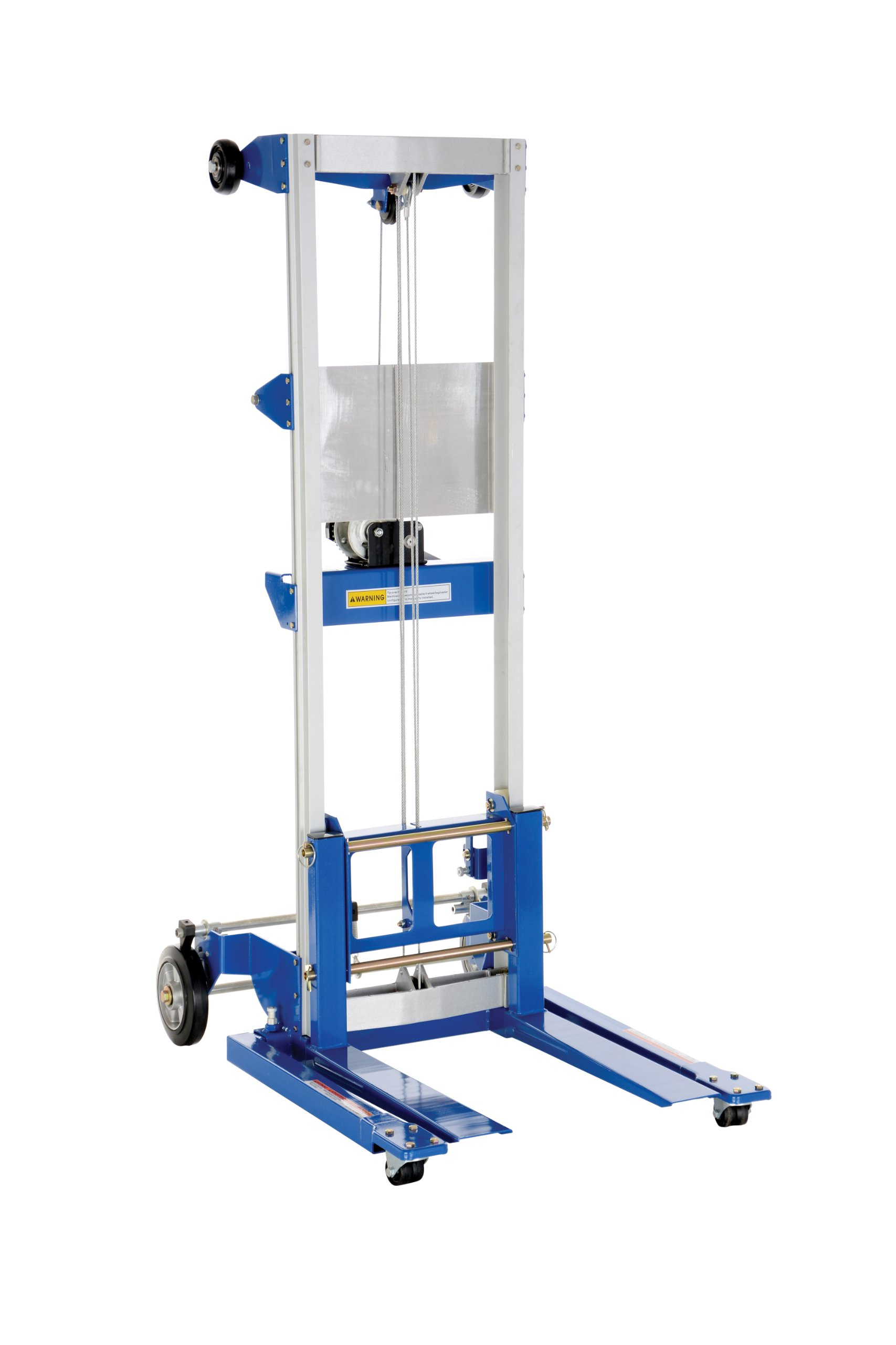 Vestil A-LIFT-S Adjustable Straddle Hand Winch Lift Truck, 42-1/2'' Length, 43-1/4'' Width, 68'' Height, 500 lbs Capacity