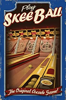 product image for Skee Ball - Arcade Redux (16x24 Giclee Gallery Print, Wall Decor Travel Poster)