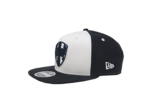 New Era 9Fifty Hat Rayados De Monterrey Liga MX Official White/Navy Blue Snapback