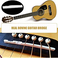 Healifty 3pcs Guitar Bridge Nut Guitar Slotted Bone Nut for 6 String Electric Guitar Replacement Parts Ivory