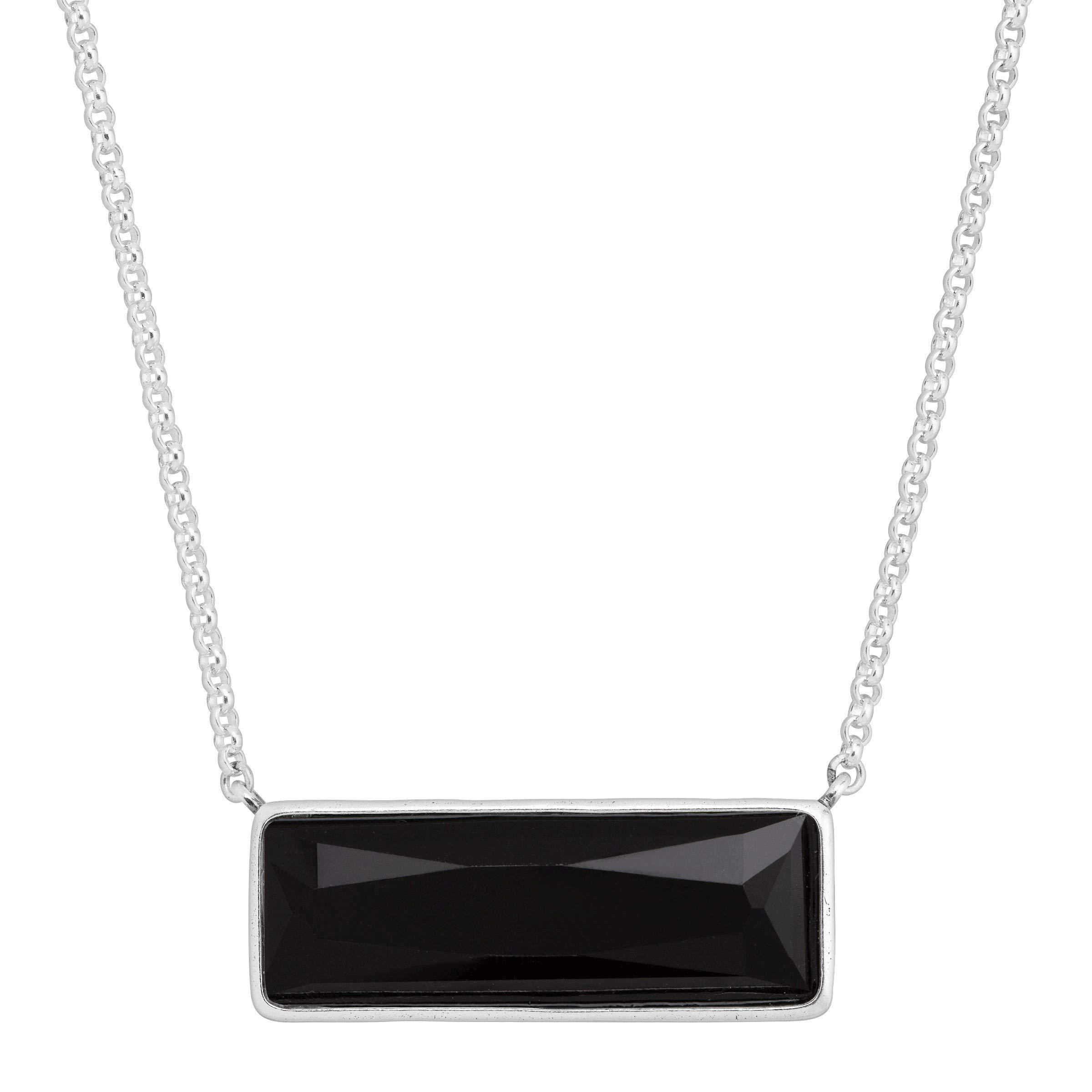 Silpada 'Noire' Jet Black Swarovski Crystal Necklace in Sterling Silver