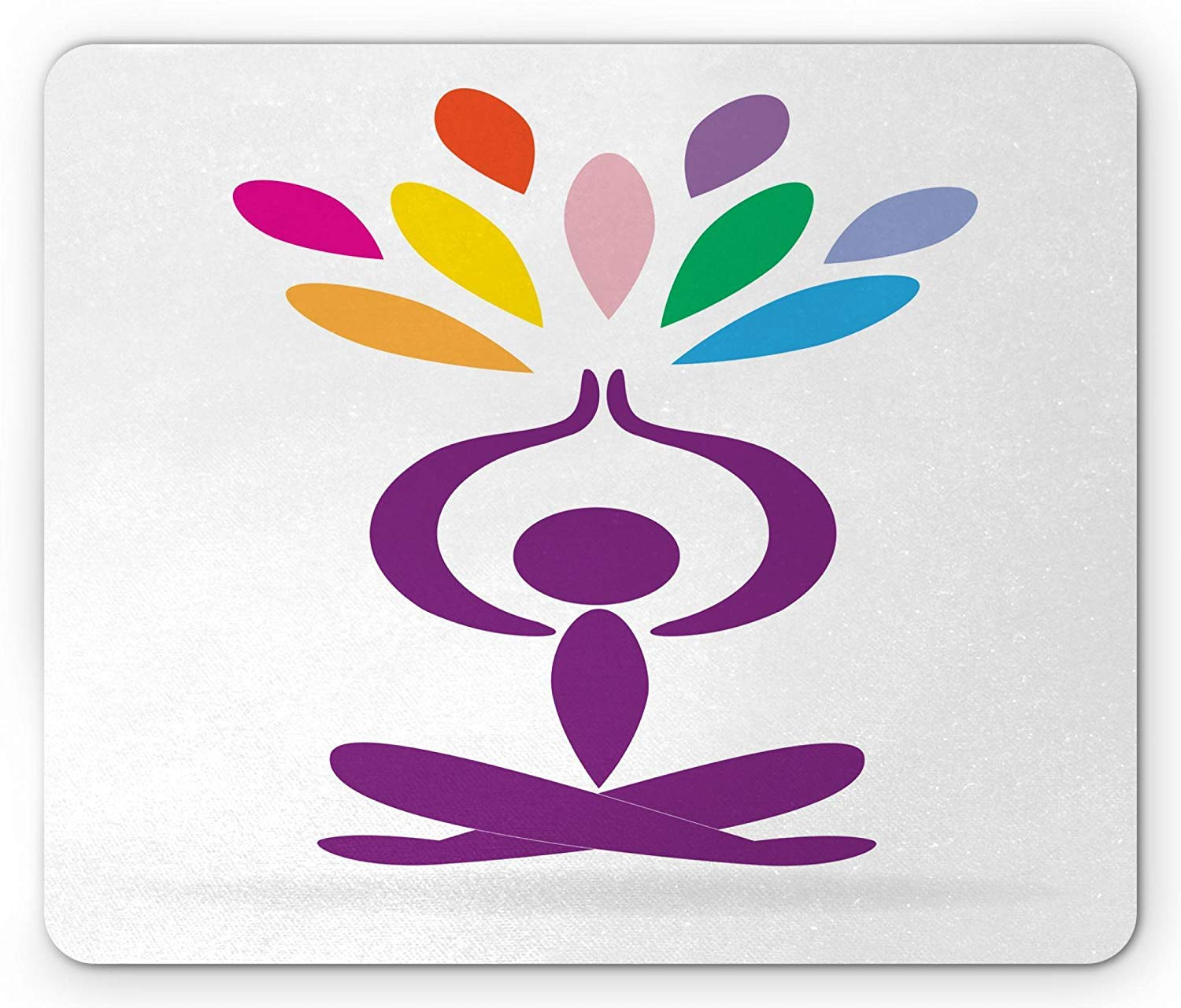 Xaceoiuu Yoga Mouse Pad, Meditation and Wellbeing Concept ...