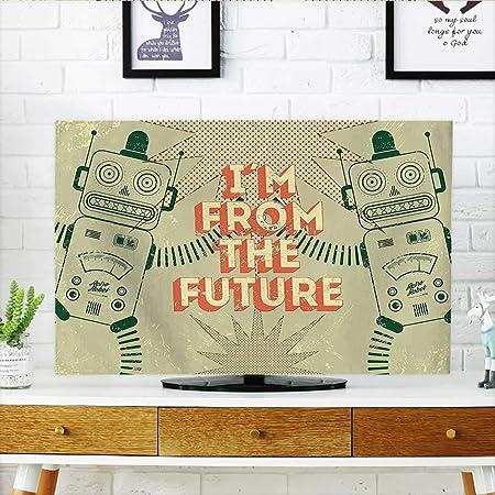 Auraisehome Protege tu televisor de pájaros de Dibujos Animados, Hojas de Corazones y Mariposas, decoración Sala de Juegos, Protege tu TV de 48,26 x 76,2 cm/TV de 81,28 cm: Amazon.es: Hogar