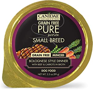 CANIDAE Petite Small Breed, Limited Ingredient Grain Free Wet Dog Food, Minced Beef & Carrots, 3.5oz (12Pk)