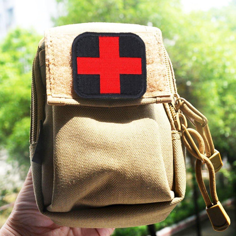 VGEBY1 Parche Bordado médico, Gancho y Lazo Brazalete de aplicación médica Cruzada para Ropa de Mochila