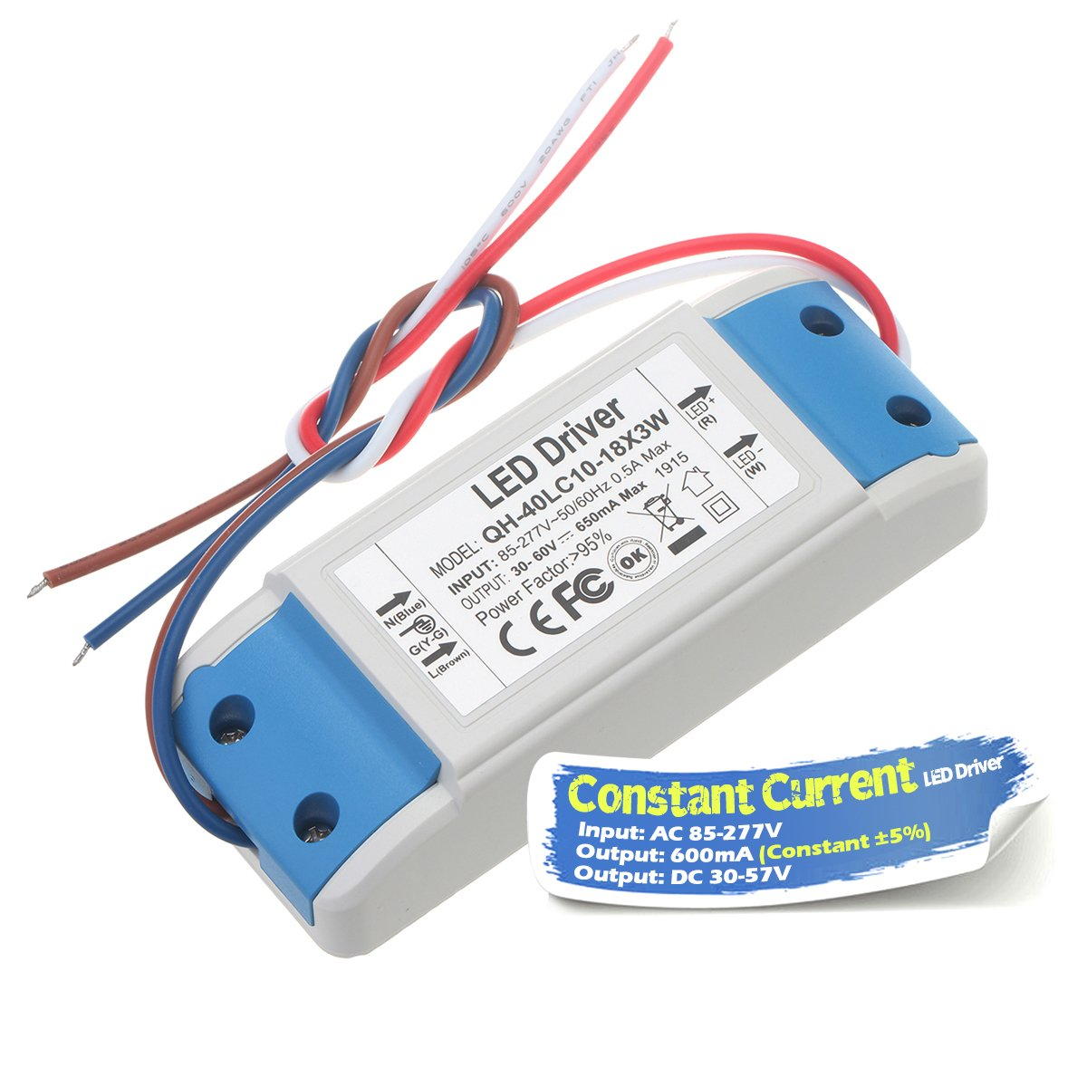 Chanzon Led Driver 600ma Constant Current Output 18v 34v In 85 Power Circuit 277v Ac Dc 6 10 X3w 18w 20w 21w 24w 27w 30w Supply 600 Ma Lighting Transformer