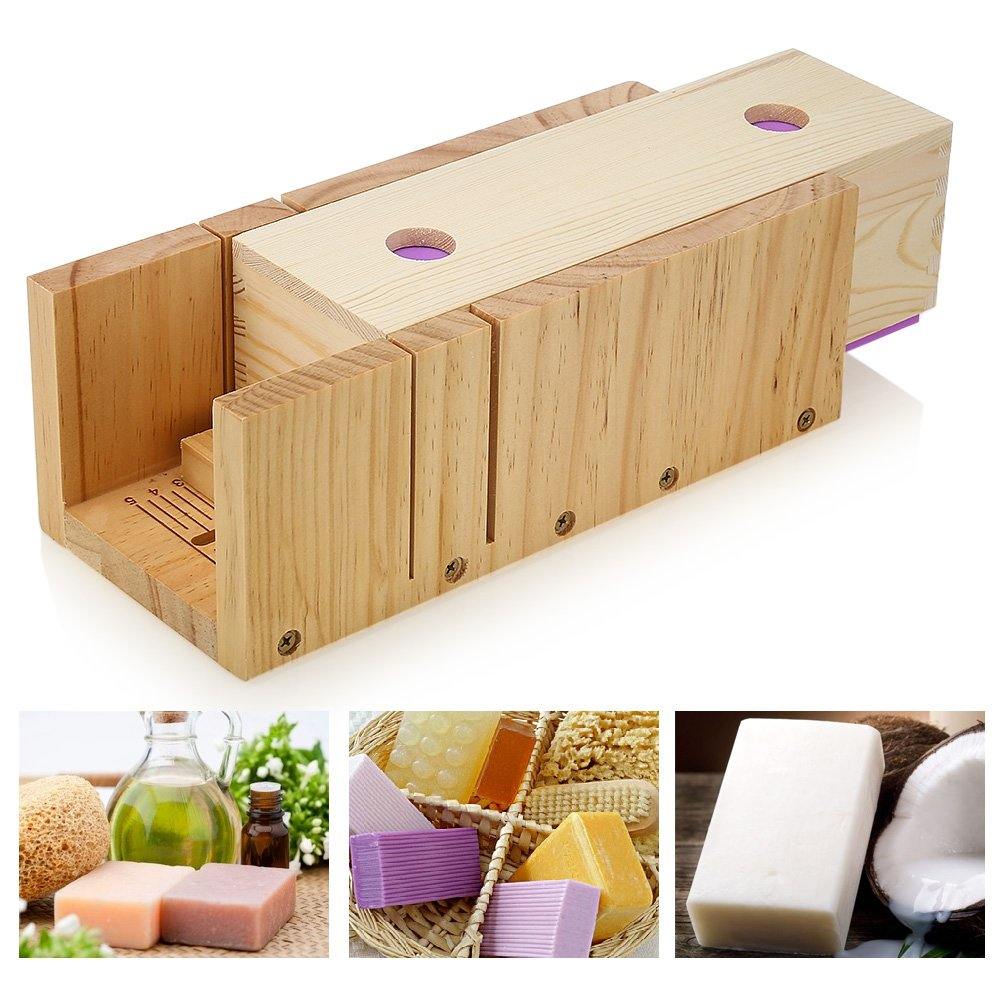 Fish Fr Wooden Soap Loaf Cutter Mold and Rectangle Silicone Mould