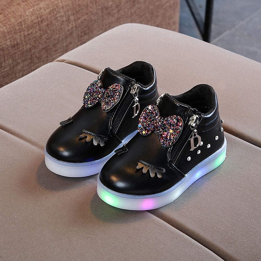 Kinder Schuhe Sunday mit Licht Led Leuchtende Blinkende Low-top Sneaker M/ädchen und Jungen hei/ße Verkaufs Baby Licht Turnschuhe Leuchtend Blinkschuhe EU:28, Schwarz