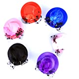 Amazon Price History for:Anleolife Kids Hats Fascinators/Baby Mini Top Hat Hair Clip/Pets PoodlesTop Hat/Girls Hair Accessories Fascinator Party Hats Dancing Cocktail Feather Headband Hair Clip 3.2inch Pink/Black/Red/Blue/Purple 5pcs/lot Sweet Girl Kid Lady
