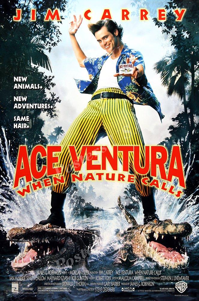 "Posters USA - Jim Carrey Ace Ventura When Nature Calls GLOSSY FINISH Movie Poster - FIL454 (24"" x 36"" (61cm x 91.5cm))"