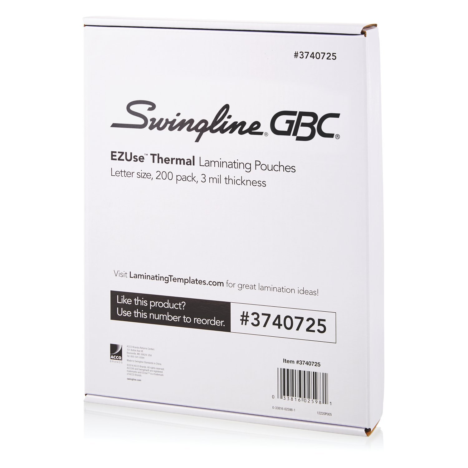 (200-Count, Letter) - Swingline GBC Thermal Laminating Sheets/Pouches, Letter Size, 3 Mil, EZUse, 100-Count (3740725) 200-Count  B06XHJS8WN