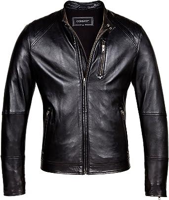 GRMO Men Faux Pu Leather Outwear Moto Biker Detachable Thicken Jacket Coat