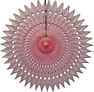 """product image for 21"""" Tissue Paper Fan, 3-Pack (Pink)"""