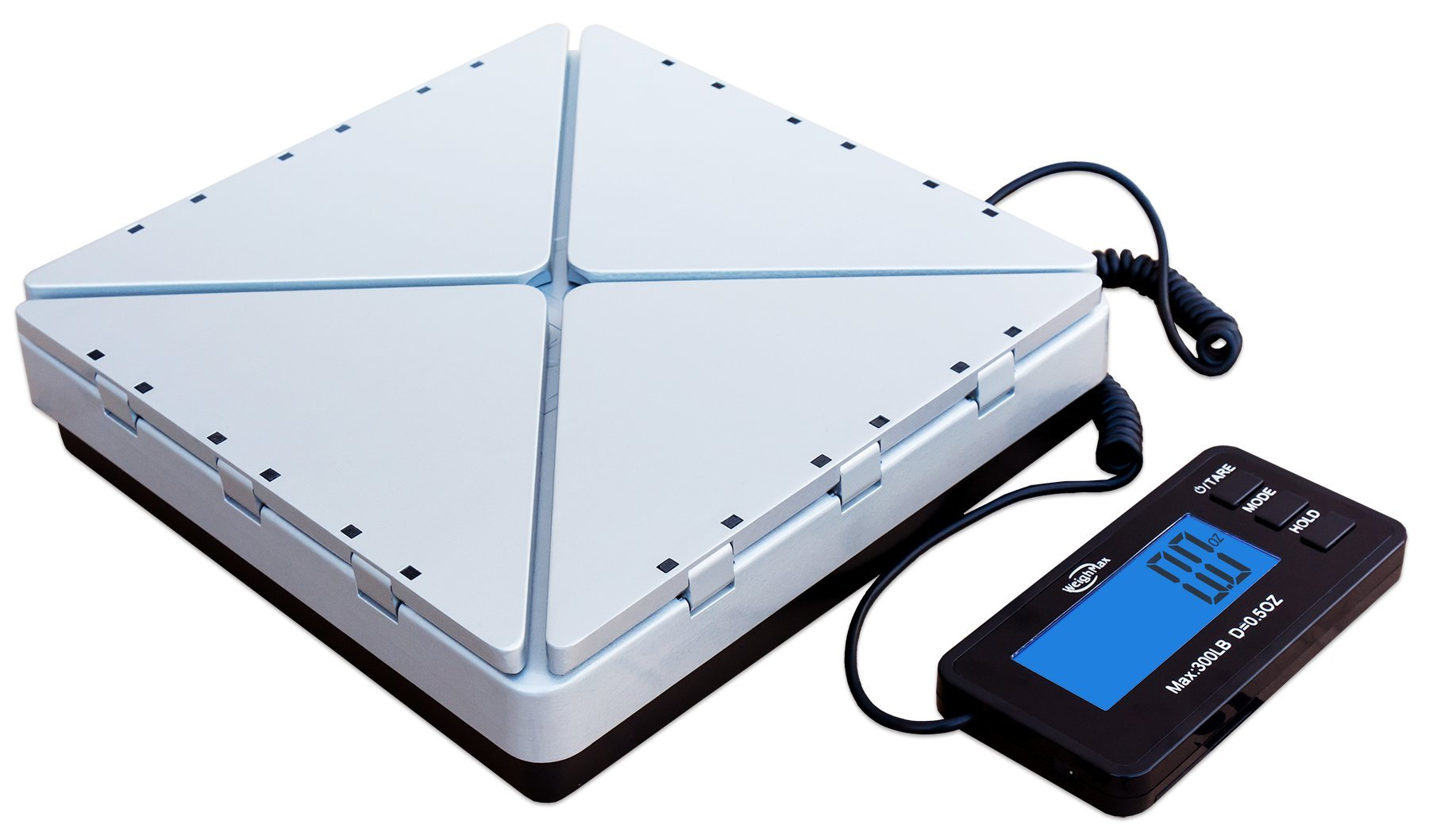 No1. Best Scale--Weighmax Transformer Digital Metal-Built shipping postal scale, 300lbs by 0.02lb