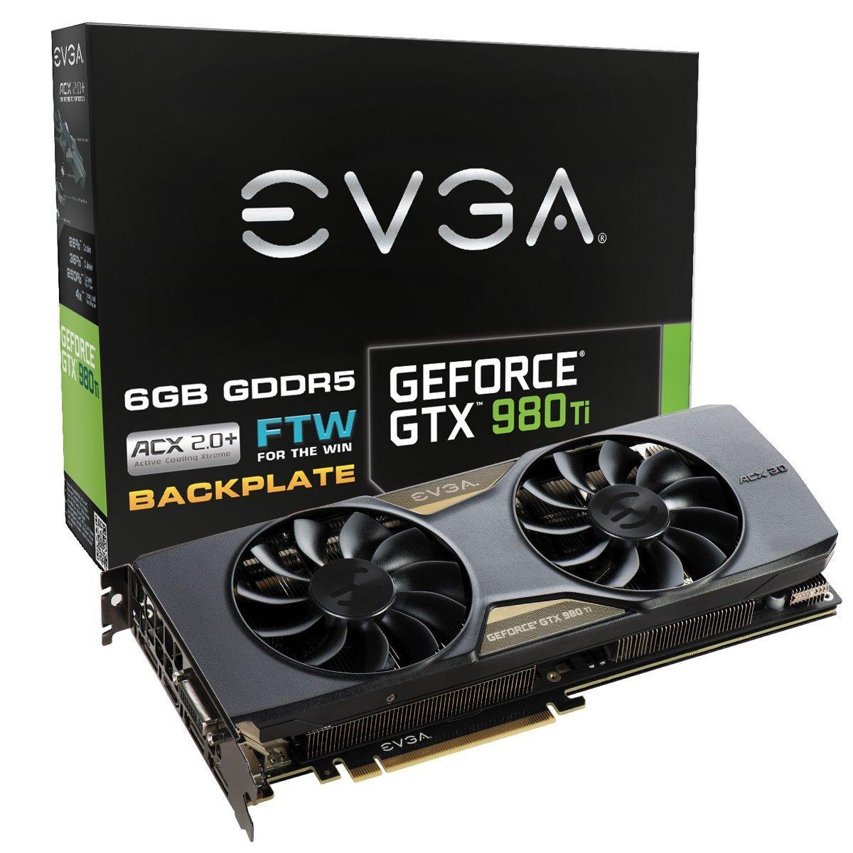 EVGA 06G-P4-4996-KR - Tarjeta gráfica (GTX 980 TI FTW Gaming ACX ...