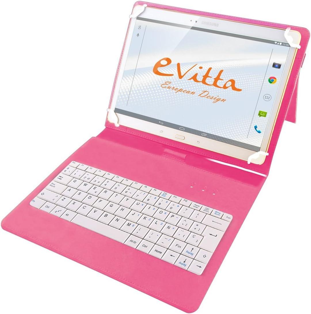 E-Vitta EVUN000511 - Funda con Teclado USB para Tablets 9, 7