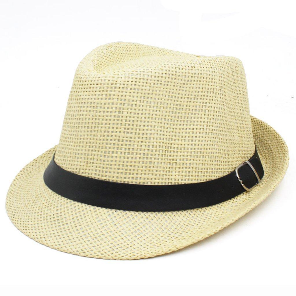 Fedoras Sun Hat Fashion Beach Travel Straw Jazz Cap Bucket Panama Hat Anti-UV