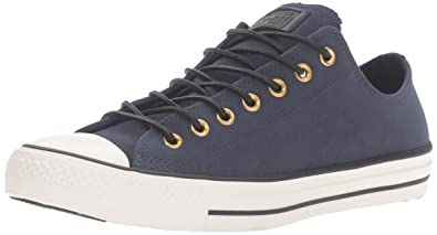 19835d0a1078 Converse Unisex Chuck Taylor All Star Corduroy Leather Obsidian Egret Black  Sneaker - 7.5