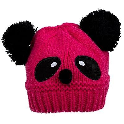 TOOGOO(R) Bonnet en tricot chaud d'hiver rose rouge pour Bebes filles et garcons