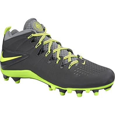 Mens Nike Huarache 4 Lax 616296 007 Anthracite Volt Stealth Football Cleat  Shoe (MEN SIZE